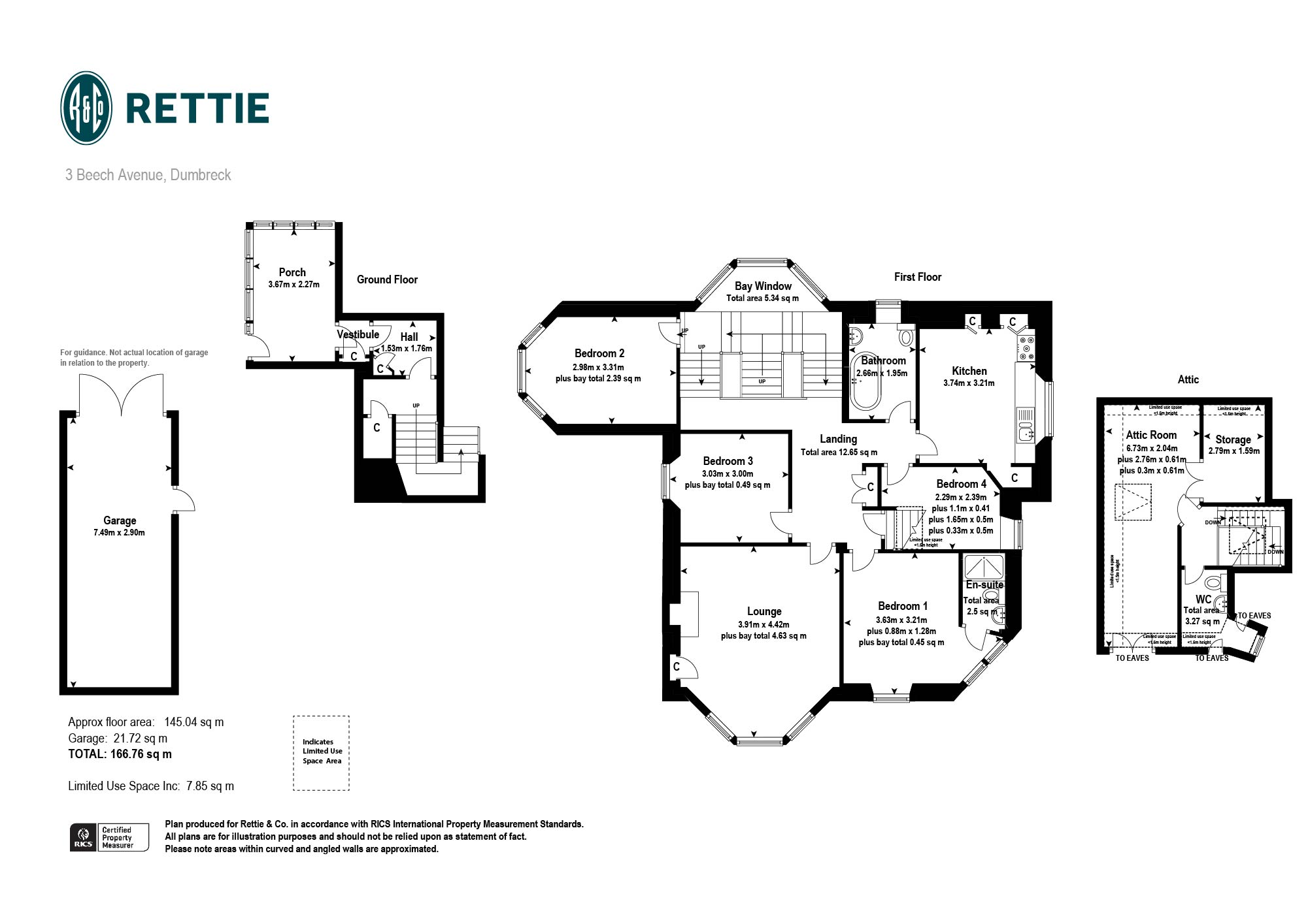 Floorplans for Beech Avenue, Dumbreck, Glasgow, G41