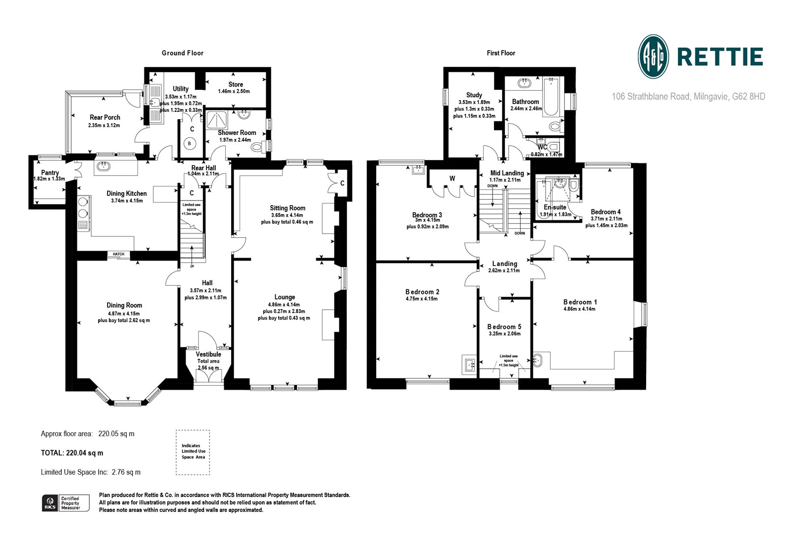 Floorplans for Strathblane Road, Milngavie, Glasgow, G62