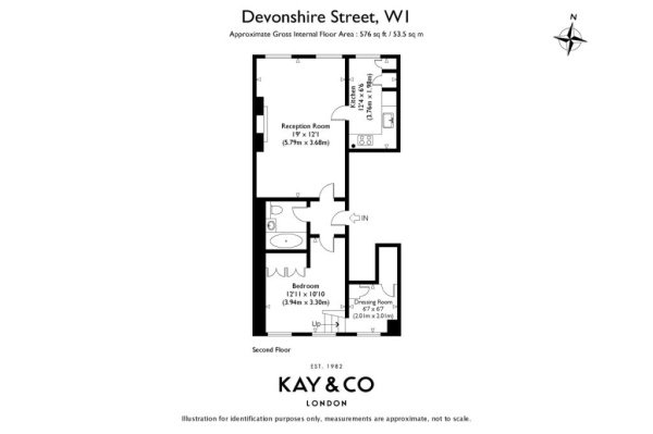 Floorplan for Devonshire Street, Marylebone, London, W1G