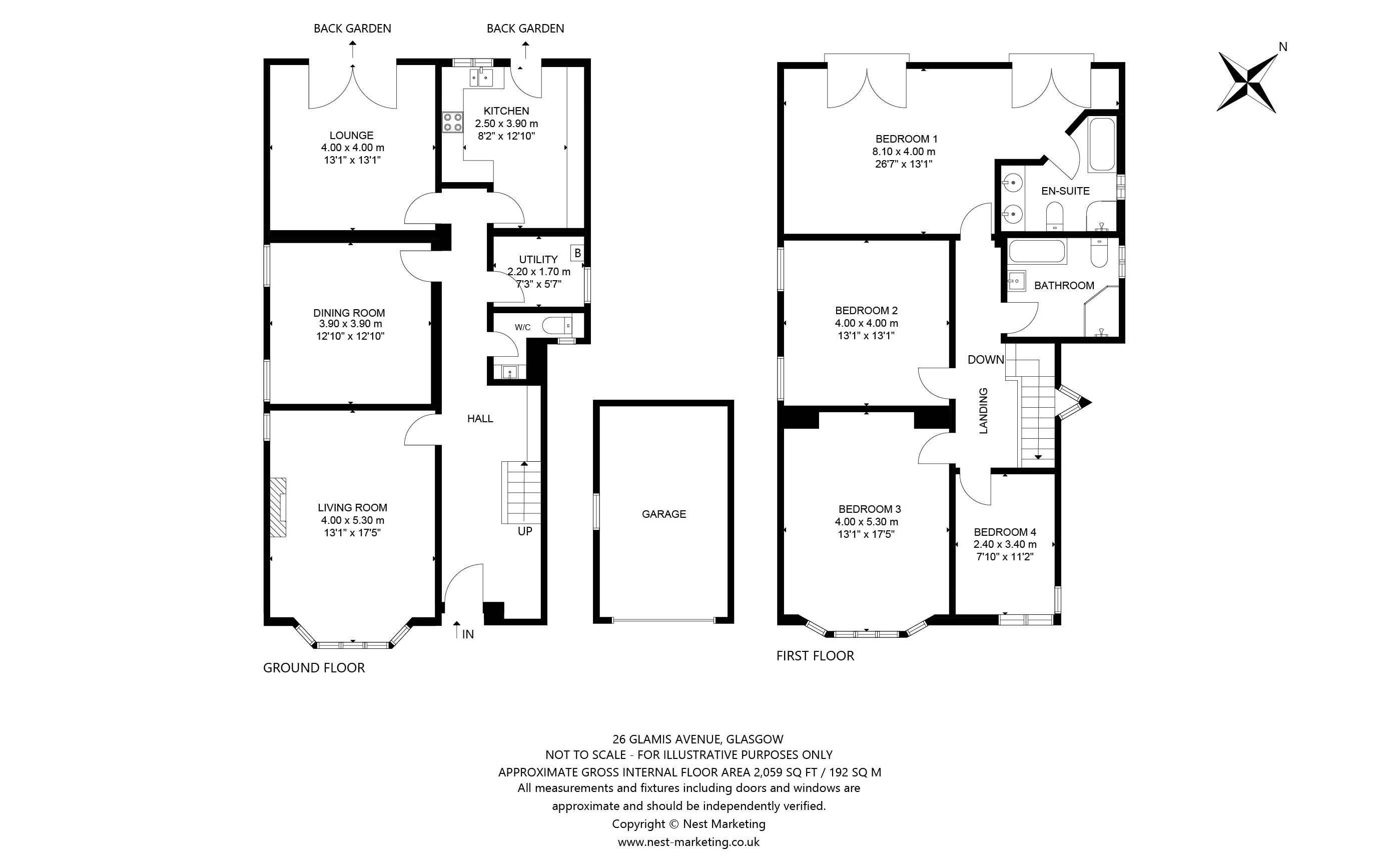 Floorplans for Glamis Avenue, Newton Mearns, Glasgow, G77