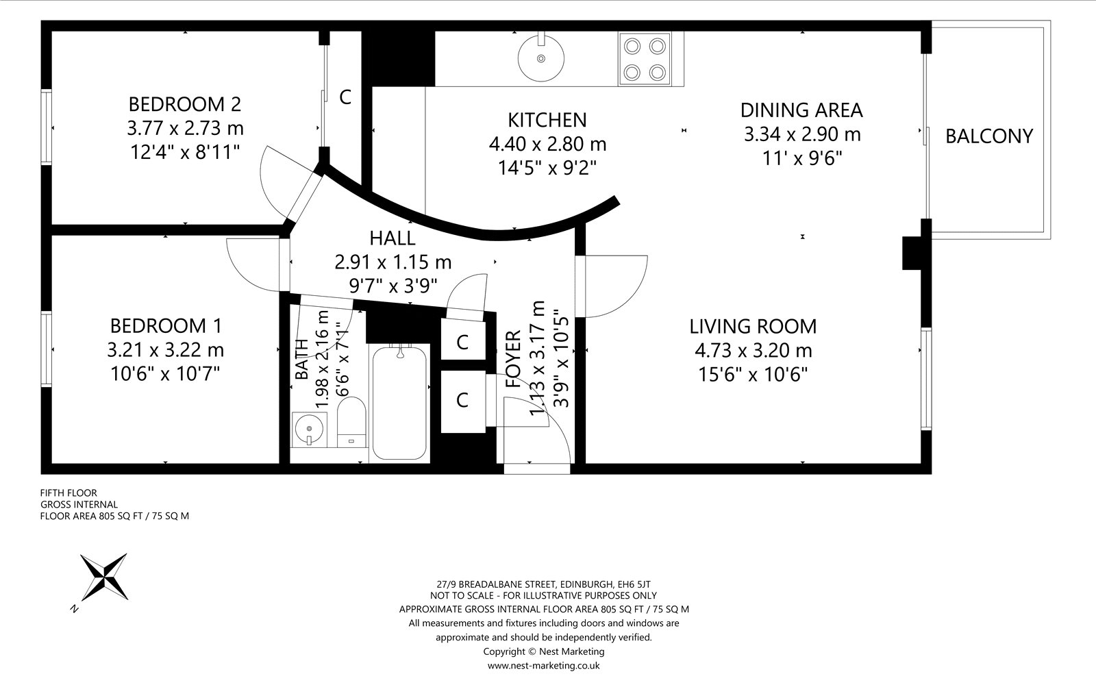 Floorplans for Breadalbane Street, Edinburgh, EH6