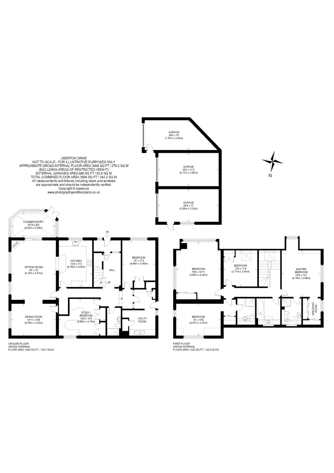 Floorplans for Liberton Drive, Edinburgh, Midlothian, EH16