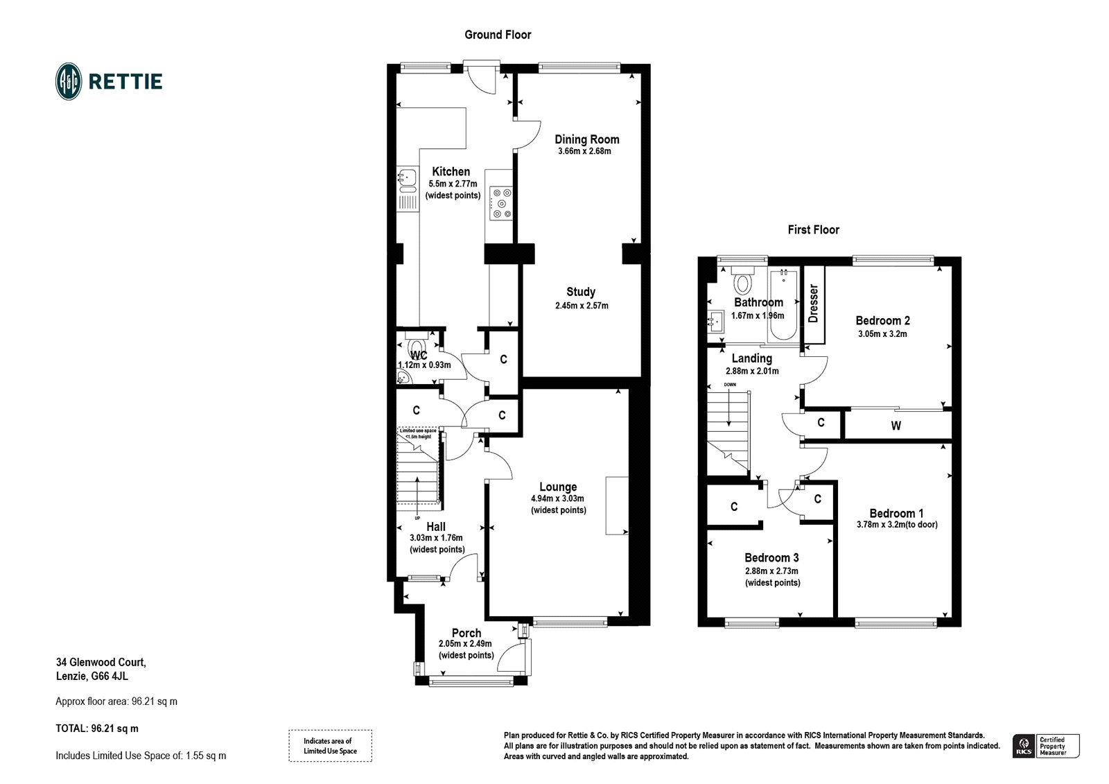 Floorplans for Glenwood Court, Lenzie, G66