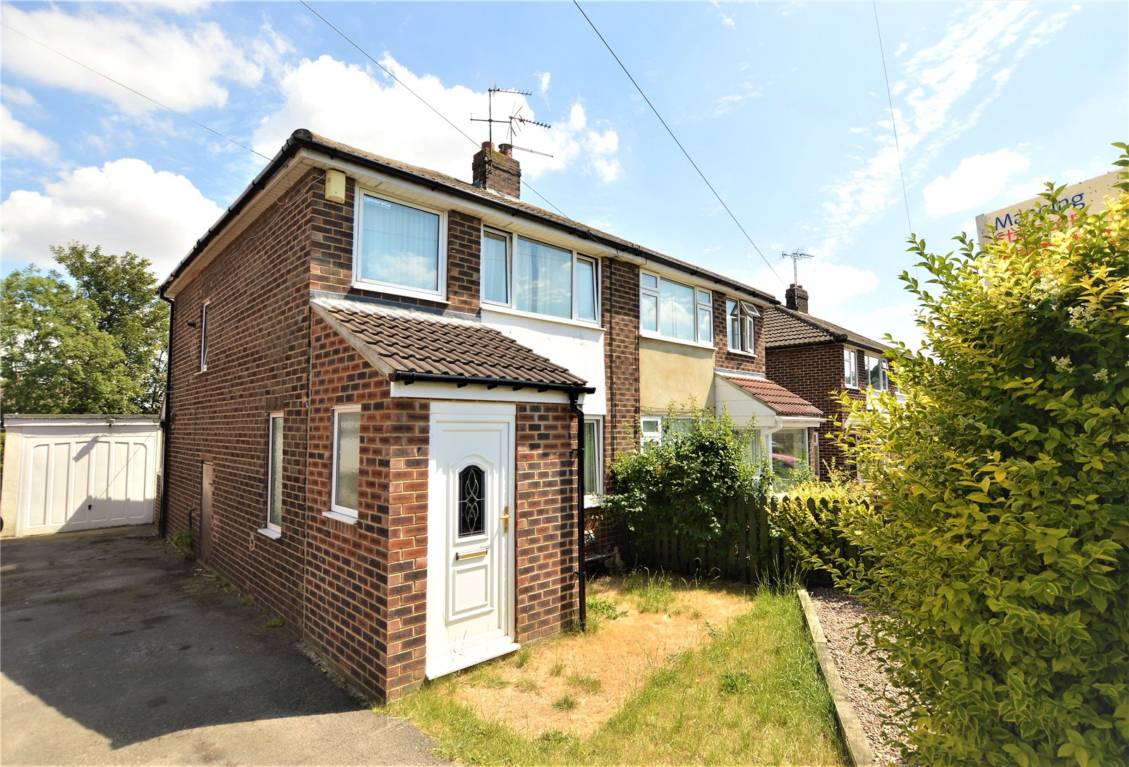 property for sale in wetherby, exterior semi detached home