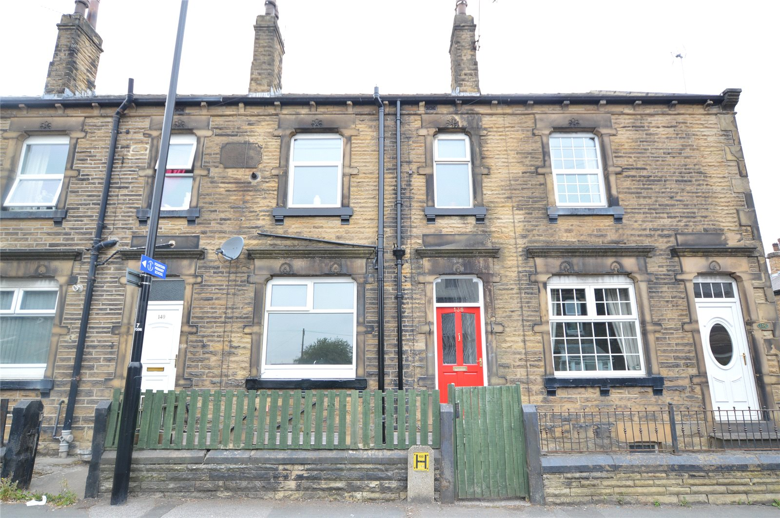 property for sale in Morley terraced house, red front door