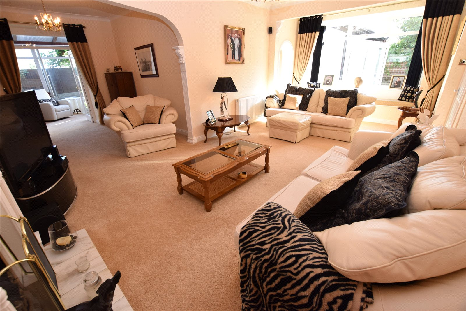 Property for sale in Wortley, Living room, spacious and white decor