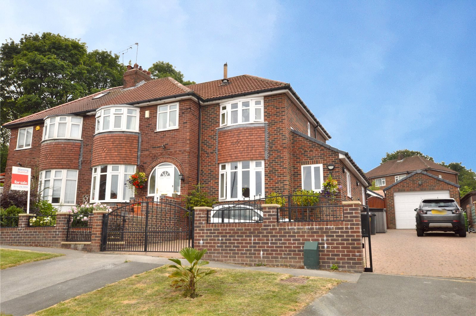 Property for sale in Pudsey, exterior, large semi detached red brick home