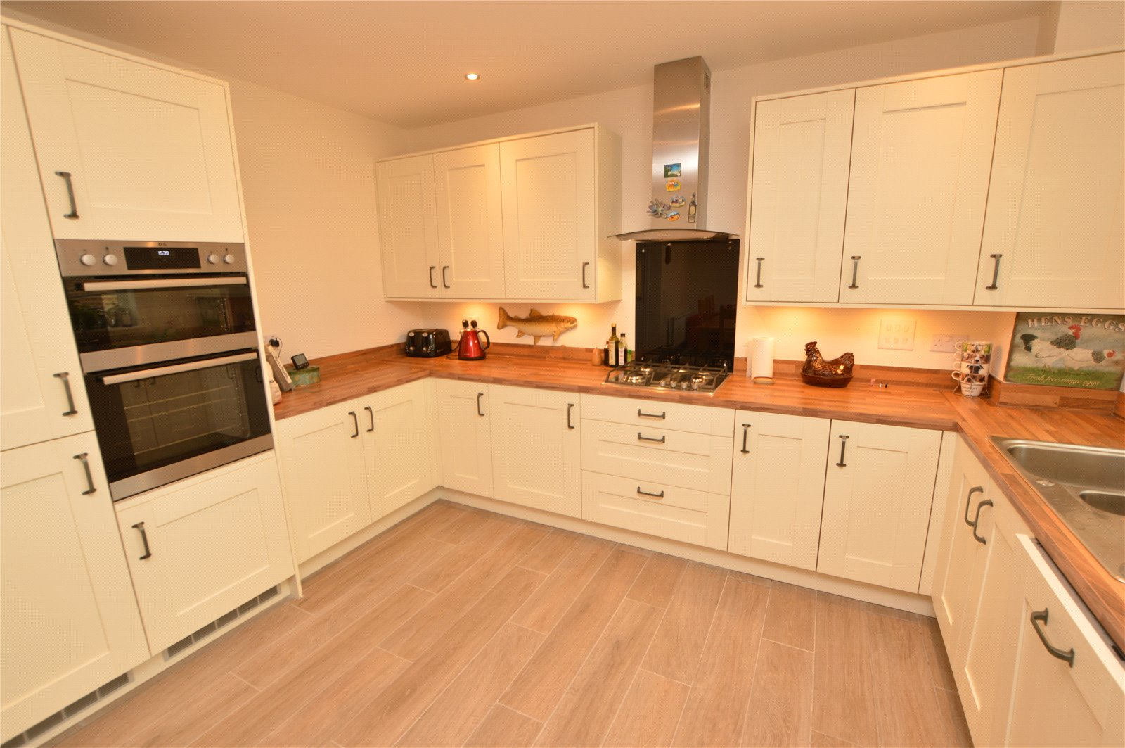 property for sale in green hammerton, interior, beautiful modern cream fitted kitchen.