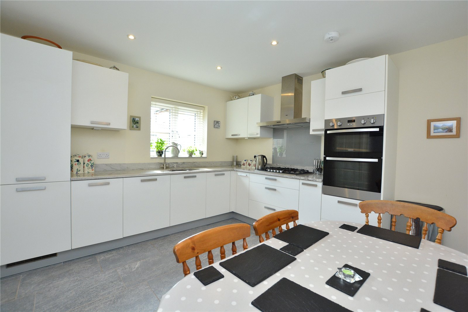 property for sale in Bardsey, interior kitchen with dining table