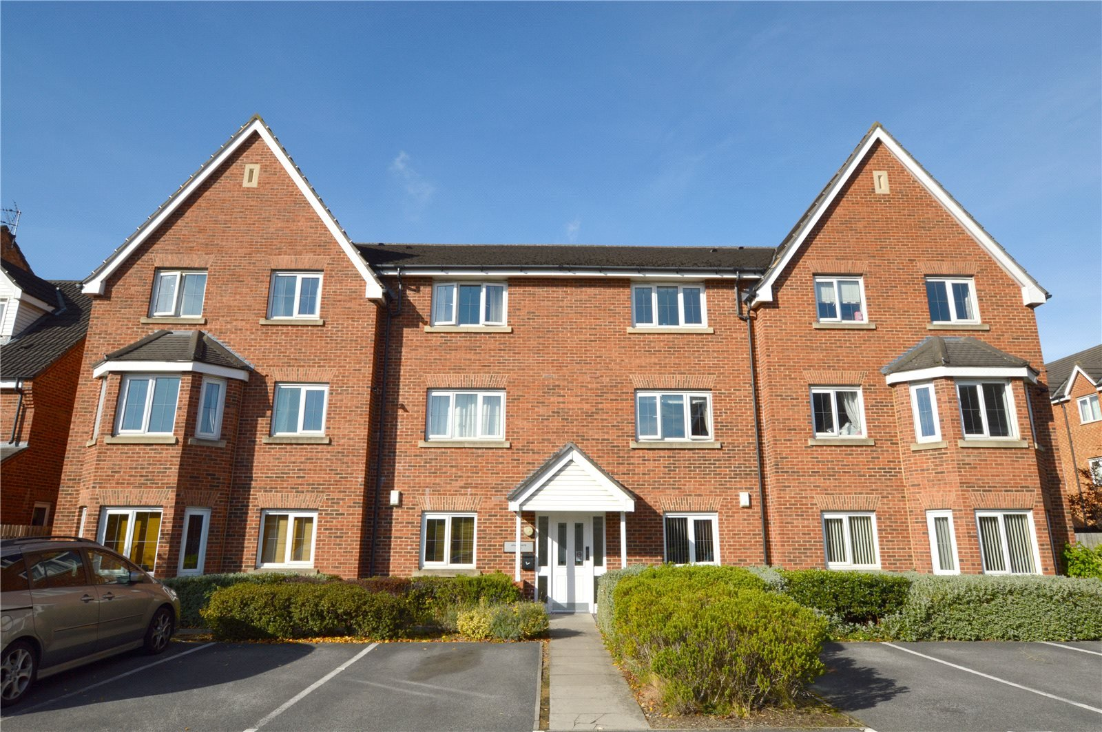 Property for sale in Pudsey, exterior three floor apartment building