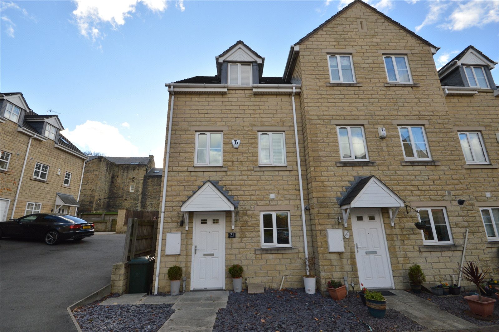 property for sale in Bradford, exterior of end terrace house
