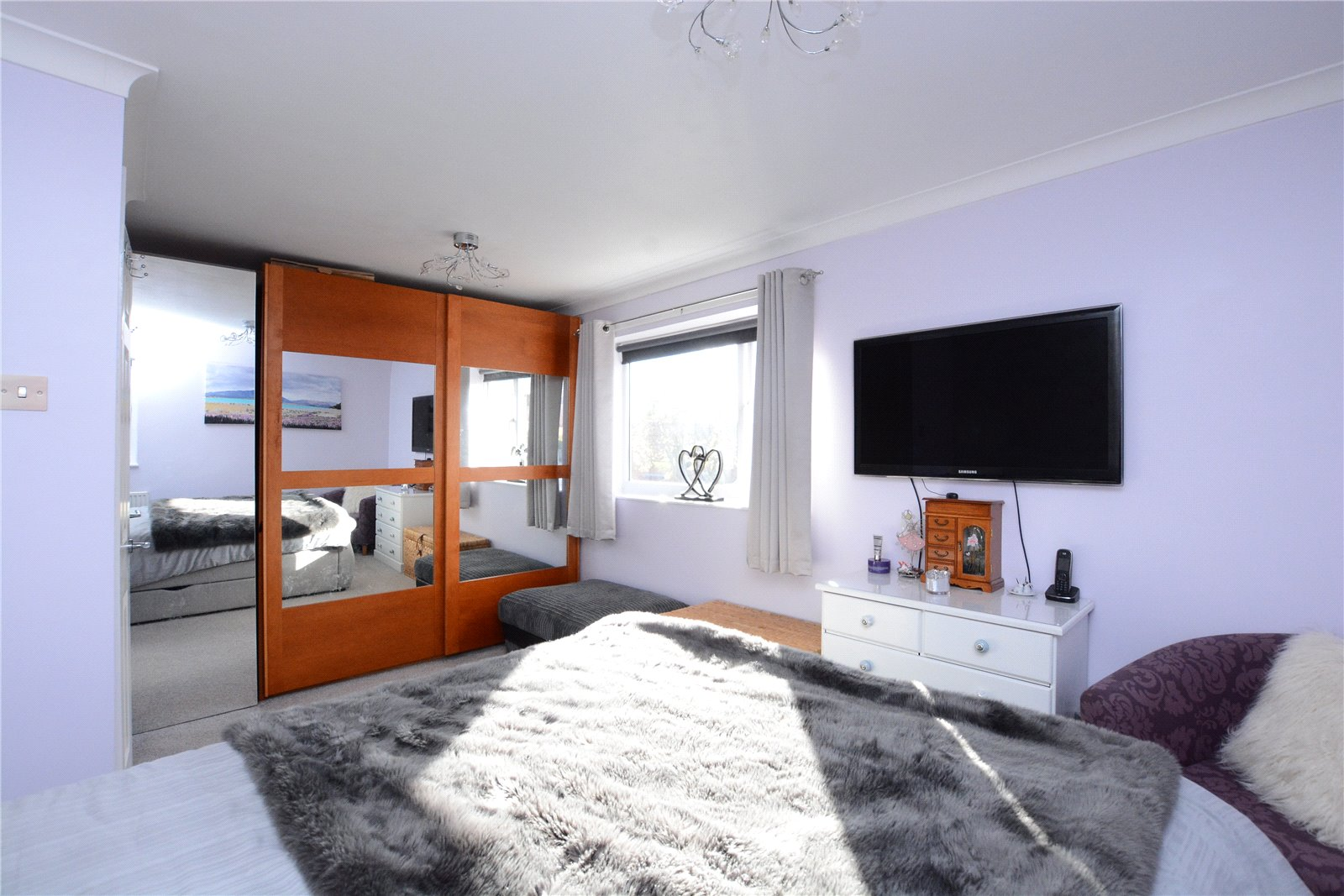 property for sale in Wetherby, interior double bedroom, sliding wardrobe doors