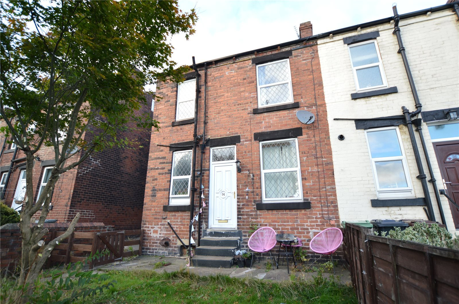 property for sale in Morley, exterior red brick semi detached home
