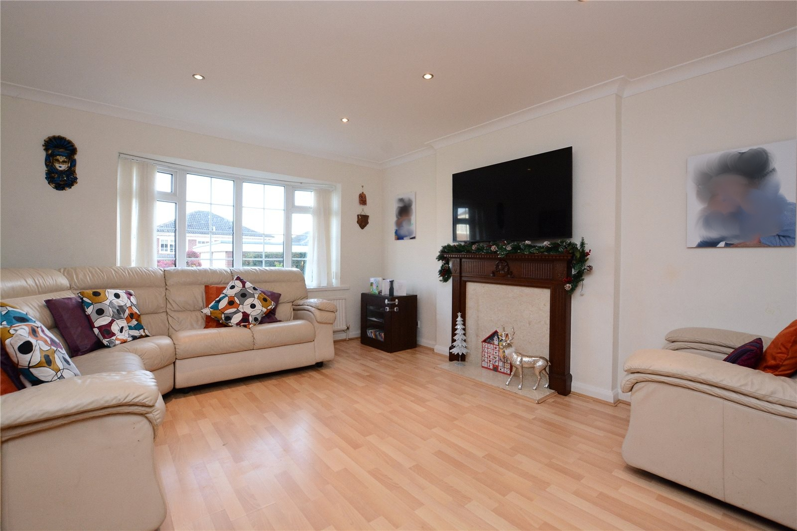 Property for sale in Oakwood, interior reception room of family home
