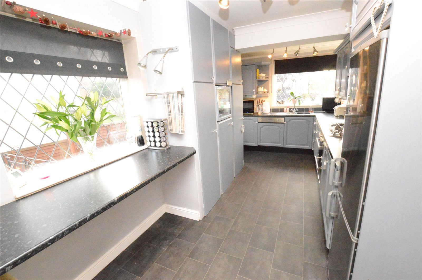 property for sale in Crossgates, Interior fitted modern grey and white kitchen