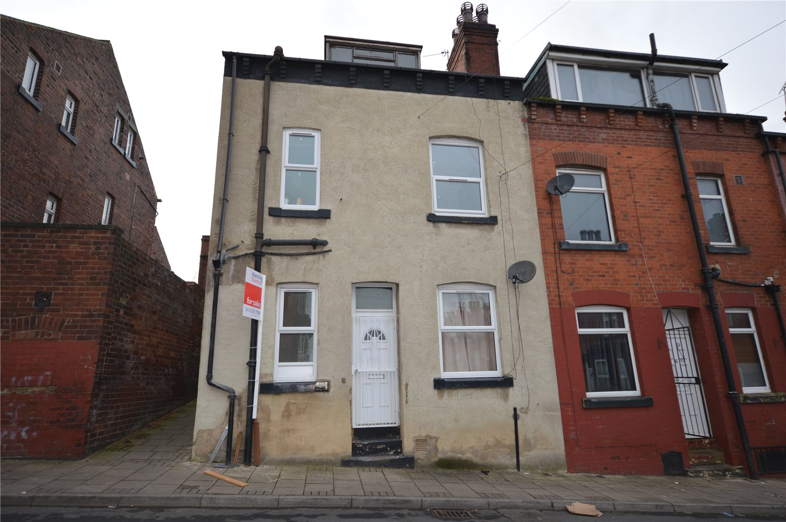 Property for sale in Beeston, exterior end terrace house