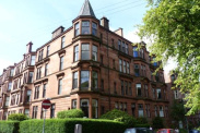 View of Queensborough Gardens, Hyndland, Glasgow, G12