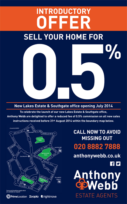 Selling Property in Southgate? Here's an offer not to be missed