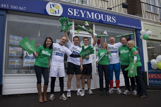THE SEYMOURS RELAY LAUNCHED TO CELEBRATE MACMILLAN PARTNERSHIP