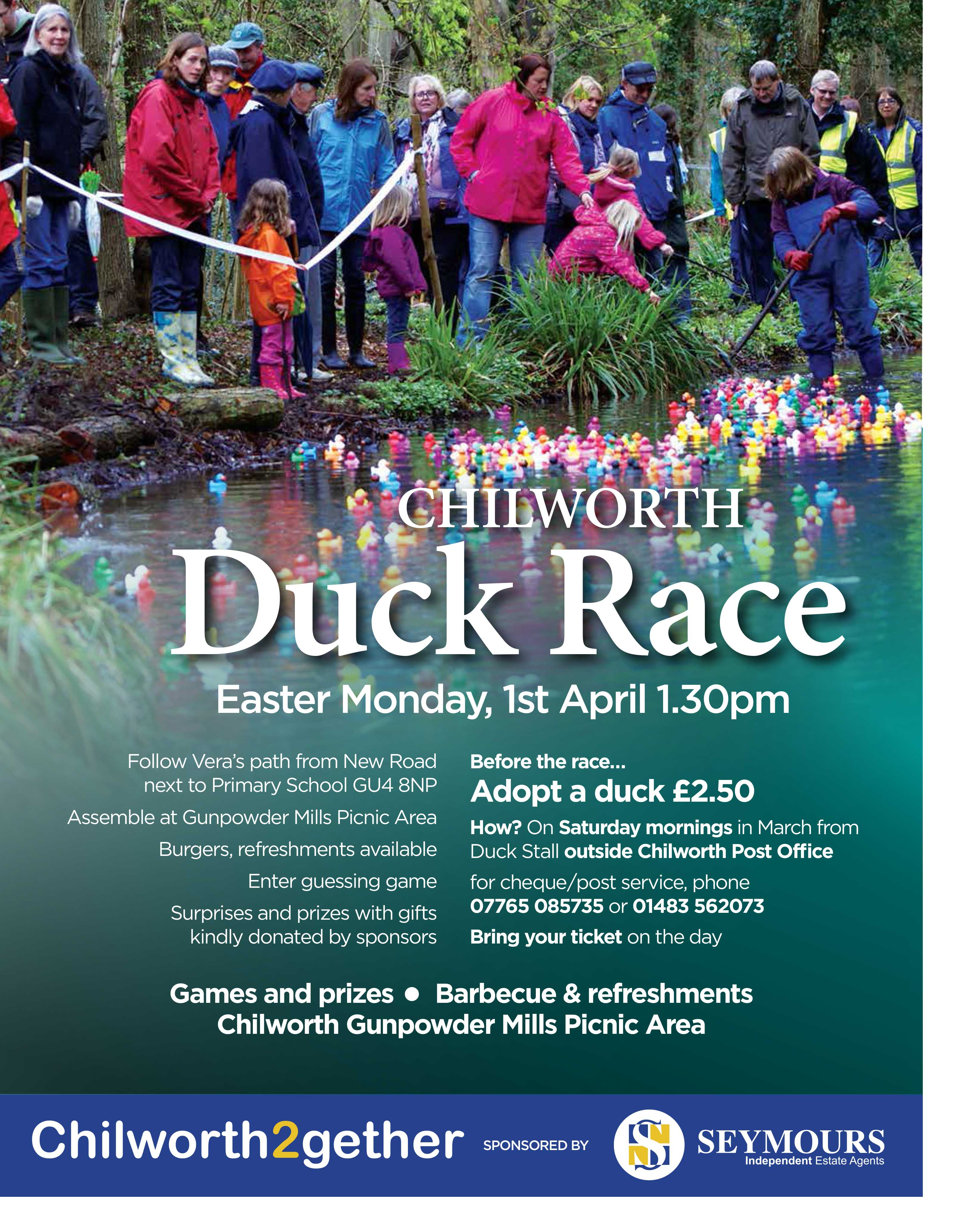 CHILWORTH2GETHER AND SEYMOURS PUT DUCKS UP FOR ADOPTION