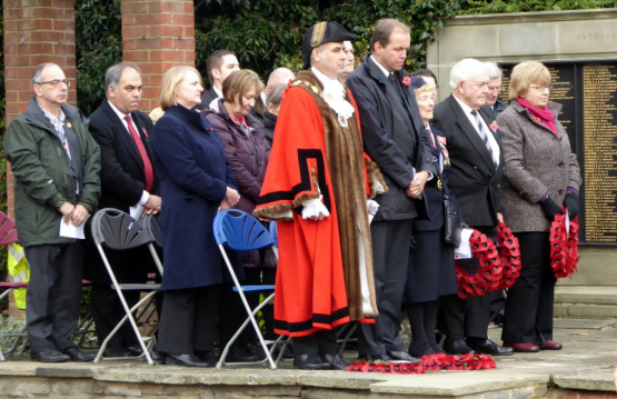 The Centenary Remembrance Service held on Armistice Day in Broomfield Park