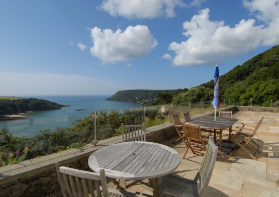 Stunning panoramic views beckon from substantial Salcombe home