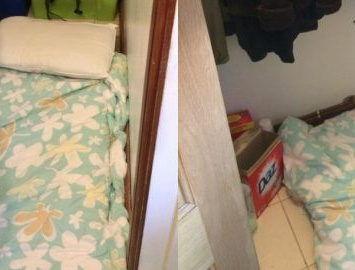 Graduates shock at £500 a month London 'room' that's a cupboard under the stairs